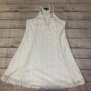 Kendall and Kylie Lace Dress Size Small-Cream